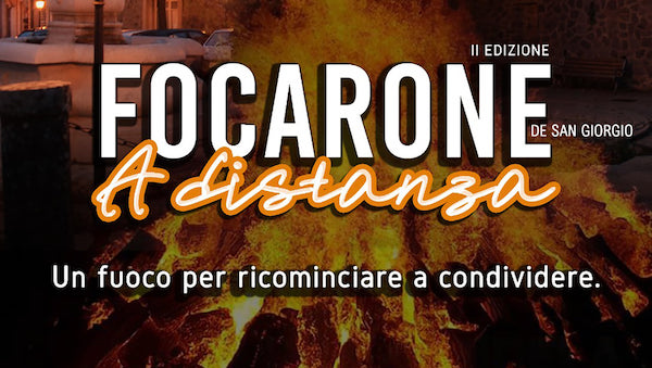 """Seconda edizione a distanza per il """"Focarone de San Giorgio Barone"""""""