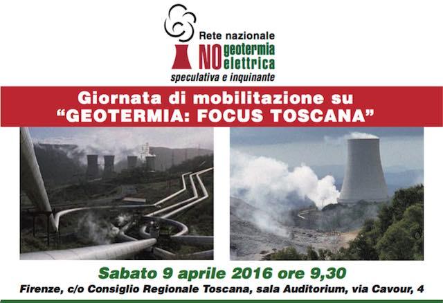 """""""Te la dò io la geotermia!"""". Giornata di mobilitazione in Regione Toscana"""