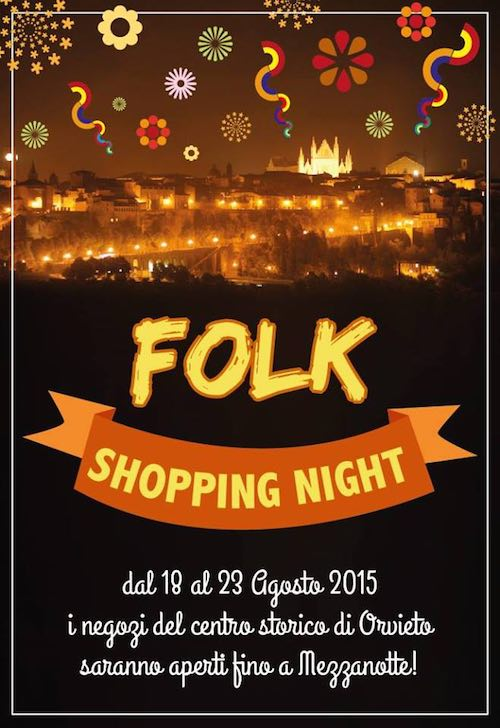 Con Umbria Folk Festival scatta la settimana del Folk Shopping Night