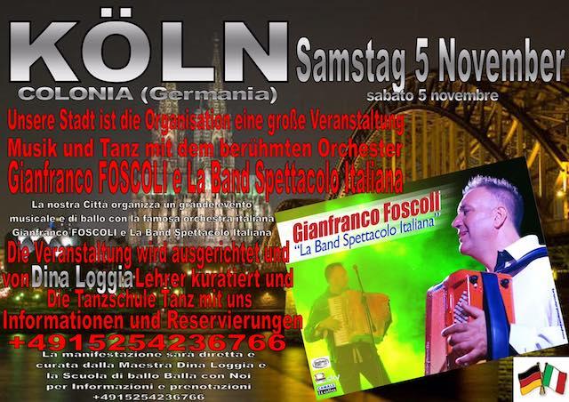 Gianfranco Foscoli in concerto a Colonia. Conquista gli States e va in onda su Canale Italia