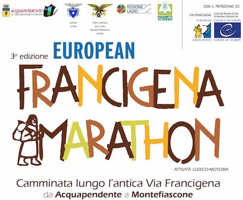 Francigena Marathon da Acquapendente a Montefiascone. Oltre 700, gli iscritti online