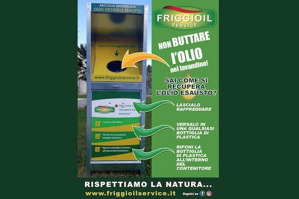 In arrivo quattro contenitori per la raccolta dell'olio vegetale esausto anche a Castel Viscardo