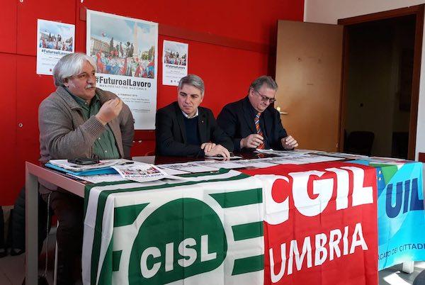 """""""Futuro al Lavoro"""", 27 pullman dall'Umbria a Roma per la manifestazione di Cgil, Cisl e Uil"""