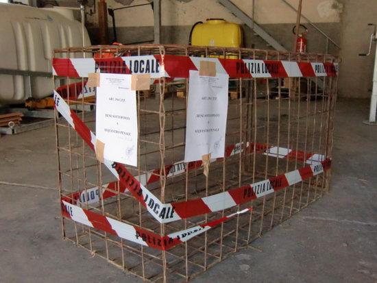 Sequestrate dalla Polizia Provinciale due gabbie abusive per la cattura dei cinghiali