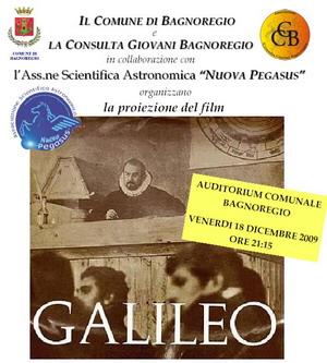 """Anno Internazionale dell'Astronomia. Venerdì a Bagnoregio proiezione del film di Liliana Cavani """"Galileo"""""""