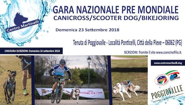 Gara Nazionale (Pre Mondiale) Canicross, Scooter Dog, Bikejoring