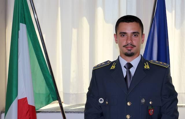 Il capitano Francesco Esposito al Comando della Guardia di Finanza di Terni