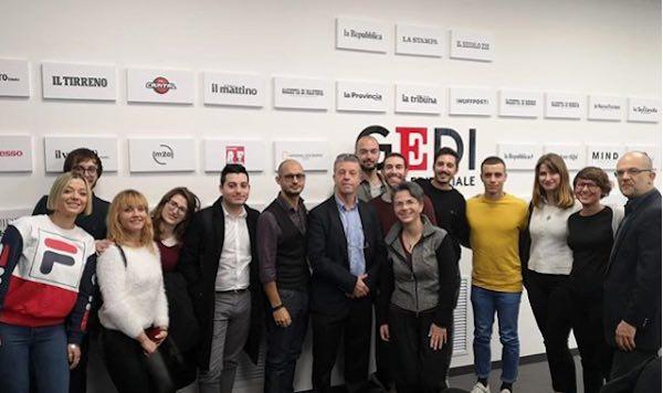 Universitari a lezione digitale presso il Gruppo Editoriale GEDI