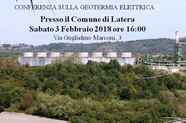 A proposito di geotermia elettrica. Conferenza Nogesi in Comune