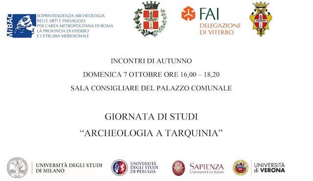 """Giornata di studi """"Archeologia a Tarquinia"""" per fare il punto sui nuovi risultati"""