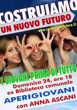 """I giovani prima di tutto. Domenica a Castel Giorgio incontro con il gruppo  """"Costruiamo un nuovo futuro per Castel Giorgio"""""""