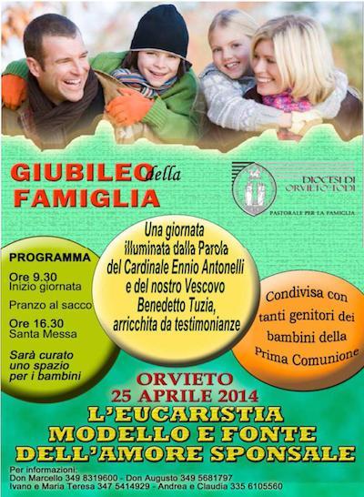 Orvieto celebra il Giubileo della famiglia e la Festa della prima comunione