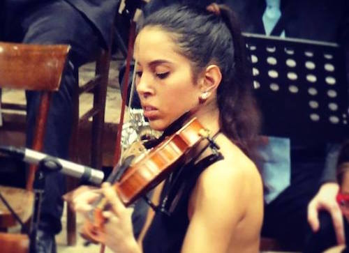 Un po' di Orvieto al Festival di Sanremo con la violinista Giulia Abbondanza