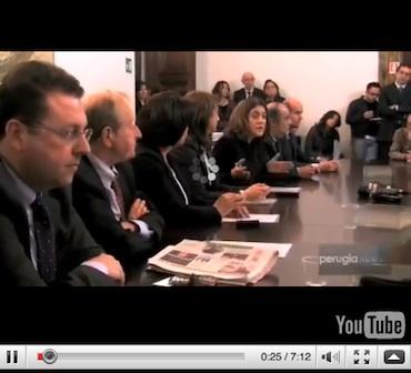 Catiuscia Marini presenta la nuova Giunta Regionale