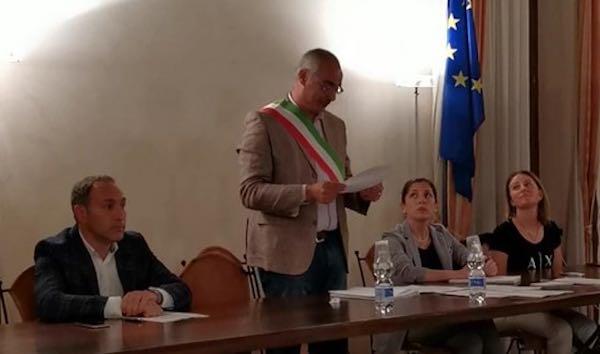 Iniziato ufficialmente il mandato bis del sindaco Massimo Bambini