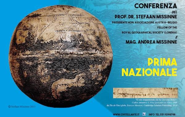 """A Civitella conferenza su """"Il mappamondo do Leonardo Da Vinci del 1504"""""""