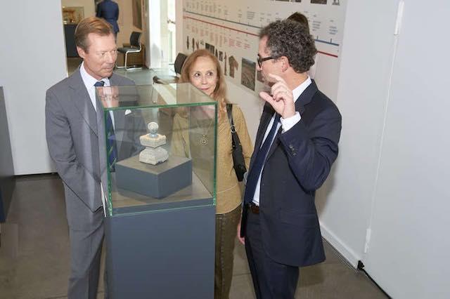 Il Granduca di Lussemburgo visita la mostra dedicata a Campo della Fiera