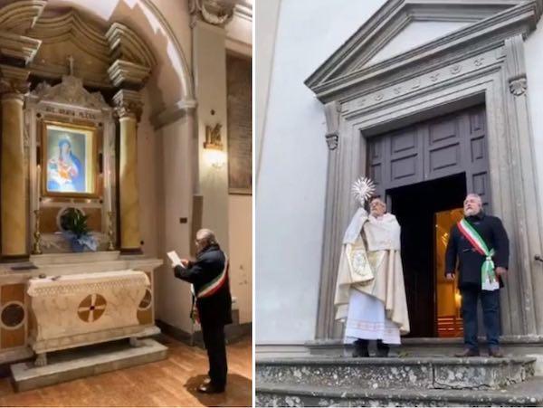 Il sindaco De Rossi affida Capodimonte alla Madonna delle Grazie