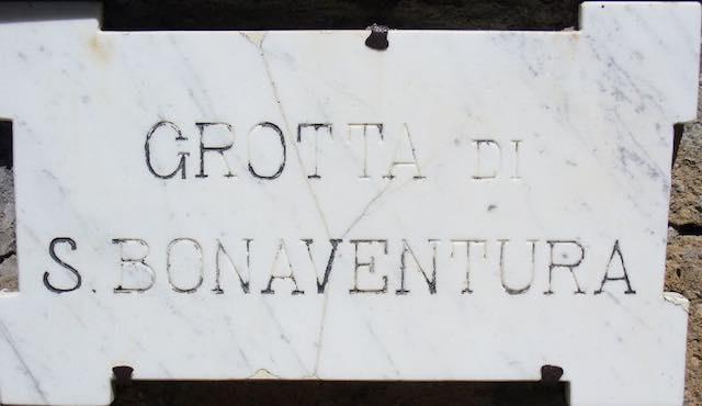 Restauro della Grotta di San Bonaventura, un'iniziativa firmata Lions