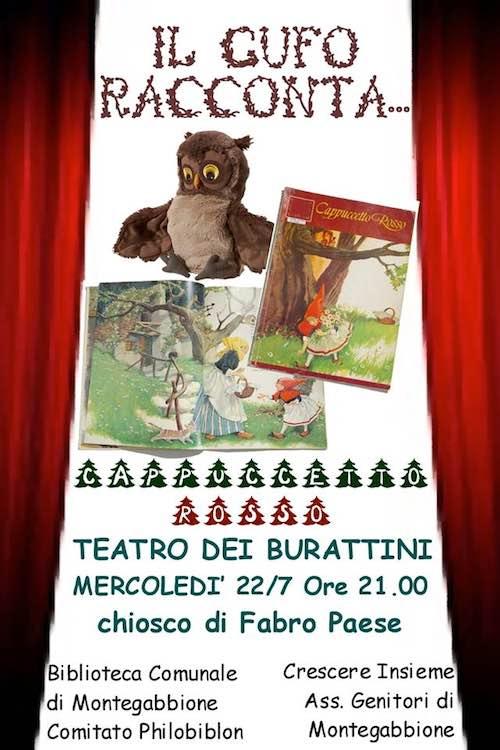 """""""Il gufo racconta... Cappuccetto Rosso"""". Teatro dei Burattini al Chiosco"""