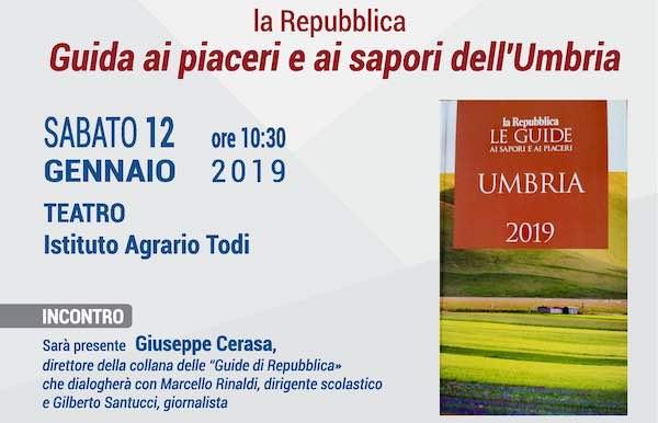 """All'Istituto Agrario si presenta la """"Guida ai sapori e ai piaceri dell'Umbria"""""""