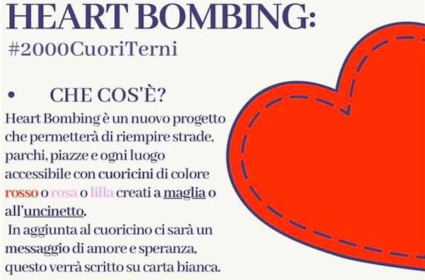 """""""Heart Bombing"""". Duemila cuori all'uncinetto e altrettanti messaggi di speranza"""