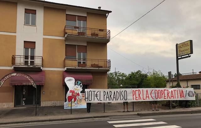 Protesta di CasaPound contro l'apertura di un nuovo centro d'accoglienza