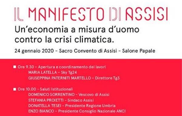 Monteleone d'Orvieto firma il Manifesto di Assisi contro la crisi climatica