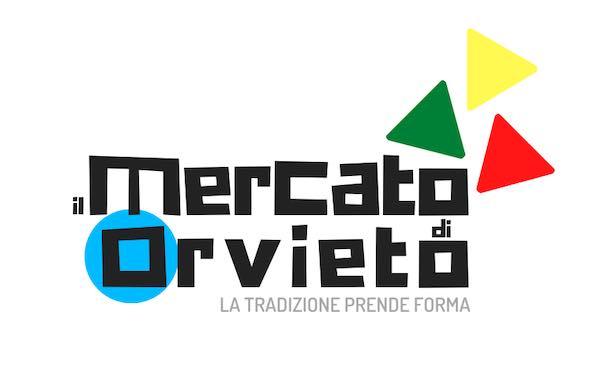 """Uno slogan e un logo per """"Il Mercato di Orvieto"""". """"Così la tradizione prende forma"""""""