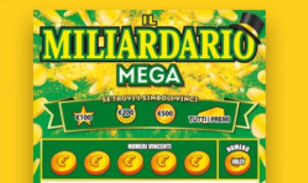 """Spende 10 euro, vince 2 milioni a """"Il Miliardario Mega"""""""