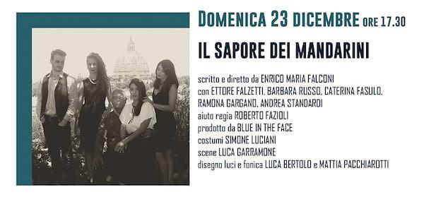 """Al Teatro Boni, """"Il sapore dei mandarini"""" di Enrico Maria Falconi"""