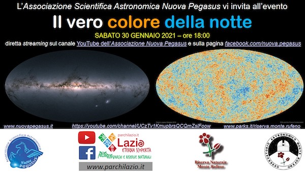 """""""Il vero colore della notte"""", uno sguardo sulle caratteristiche fisiche dell'Universo"""