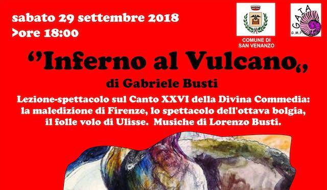 """""""Inferno al Vulcano"""", lezione-spettacolo sulla Divina Commedia"""