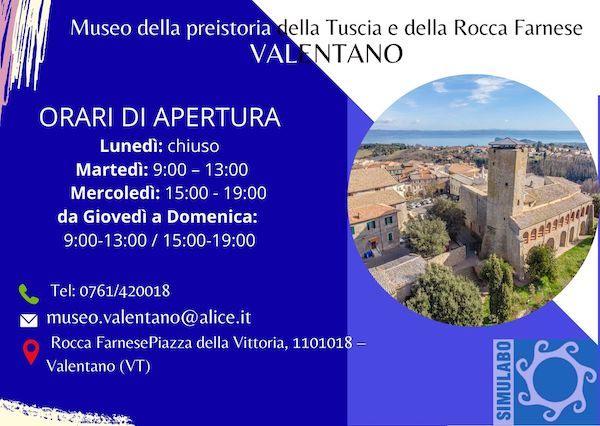 Orario di visita esteso al Museo della Preistoria della Tuscia e della Rocca Farnese