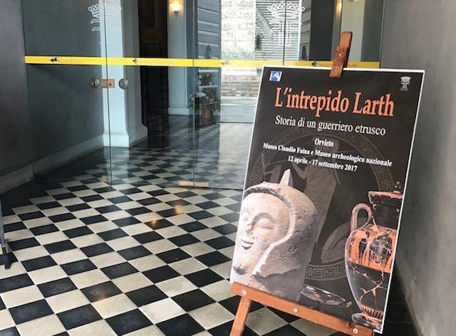 """Una mostra, due musei. Inaugurata """"L'intrepido Larth. Storia di un guerriero etrusco"""""""
