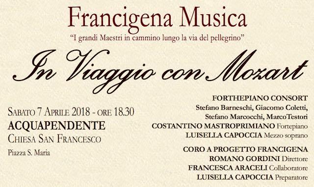 """La rassegna """"Francigena Musica"""" si apre rievocando il passaggio di Mozart"""