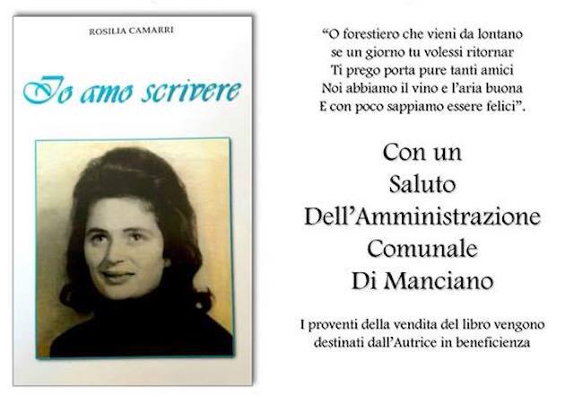 """Memorie e poesie, Rosilia Camarri presenta il libro """"Io amo scrivere"""""""