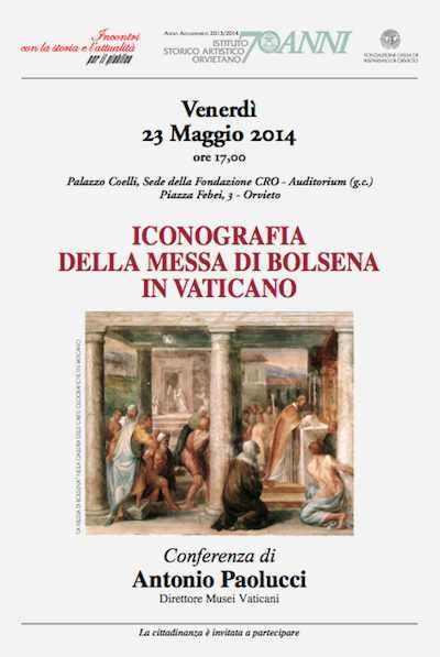 """Il direttore dei Musei Vaticani relaziona su """"Iconografia della messa di Bolsena in Vaticano"""""""