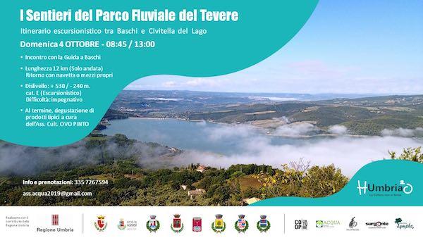 """""""Camminare sull'Acqua"""", lungo i sentieri del Parco Fluviale del Tevere"""