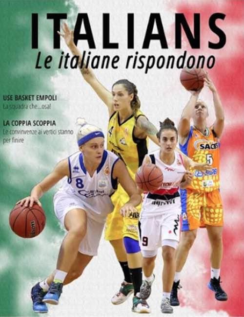 Valentina Baldelli nella copertina di LBF Magazine. Squadra al completo contro Battipaglia