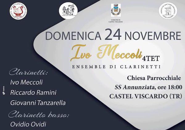 """""""Ivo Meccoli 4Tet"""". Ensemble di clarinetti in concerto"""