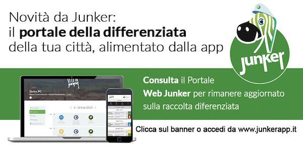 Nuovo portale web della differenziata con le informazioni già presenti in Junker