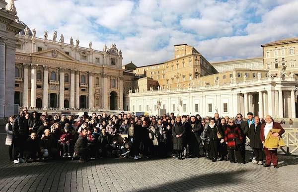 Il Comune in visita da Papa Francesco con i ragazzi speciali di Juppiter