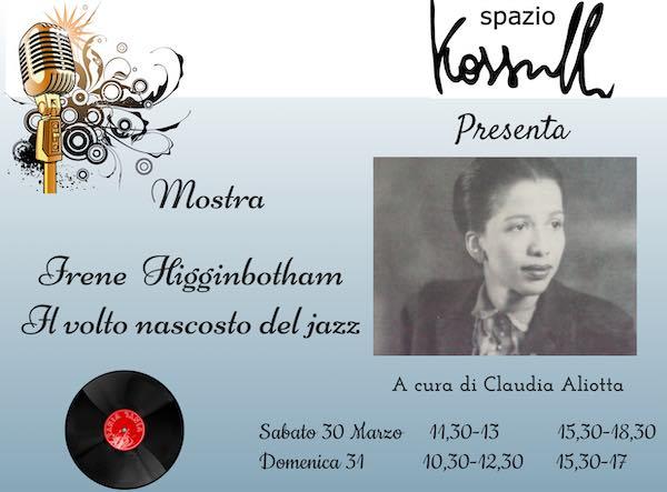 Mostra e concerto jazz per il centenario dalla nascita di Irene Higginbotham
