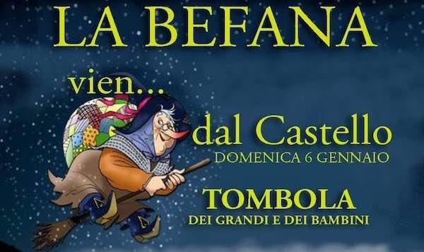 """""""La Befana vien dal Castello"""" e tombola all'Auditorium"""