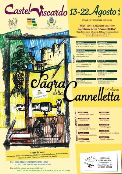 Tra storia, artigianato e enogastronomia a Castel Viscardo torna la Sagra della Cannelletta