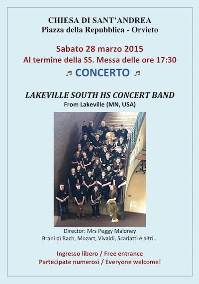 Lakeville South Hs Concert Band nella chiesa di Sant'Andrea