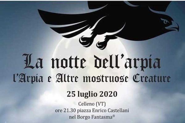 """Nel Borgo Fantasma si accende """"La Notte dell'Arpia"""""""