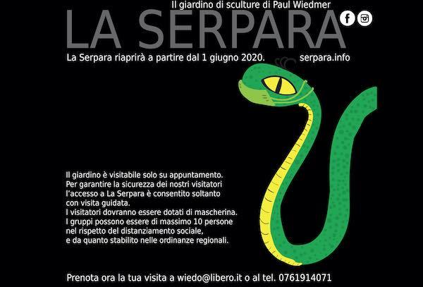 """Dal 1° giugno, su appuntamento, riapre il giardino di sculture """"La Serpara"""""""