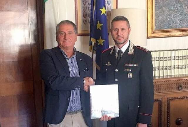 Il presidente della Provincia incontra il nuovo comandante dei Carabinieri